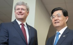 Prime Minister Stephen Harper and Hu Jintao, President of China - Photo from Prime Minister of Canada Website