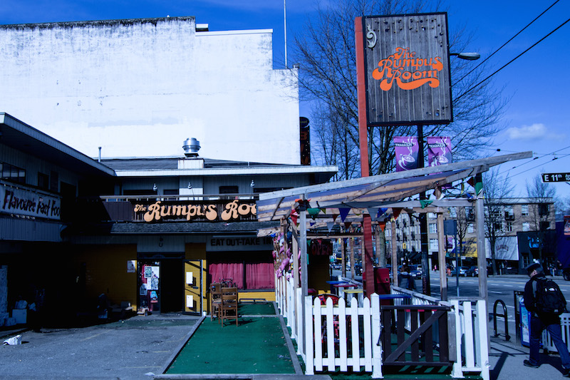 One of Main Street's most well-known Restaurants, The Rumpus Room, is now closed for redevelopment