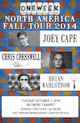 One Week Records Tour Show with Joey Cape, Chris Cresswell and Brian Wahlstrom @ Biltmore Cabaret