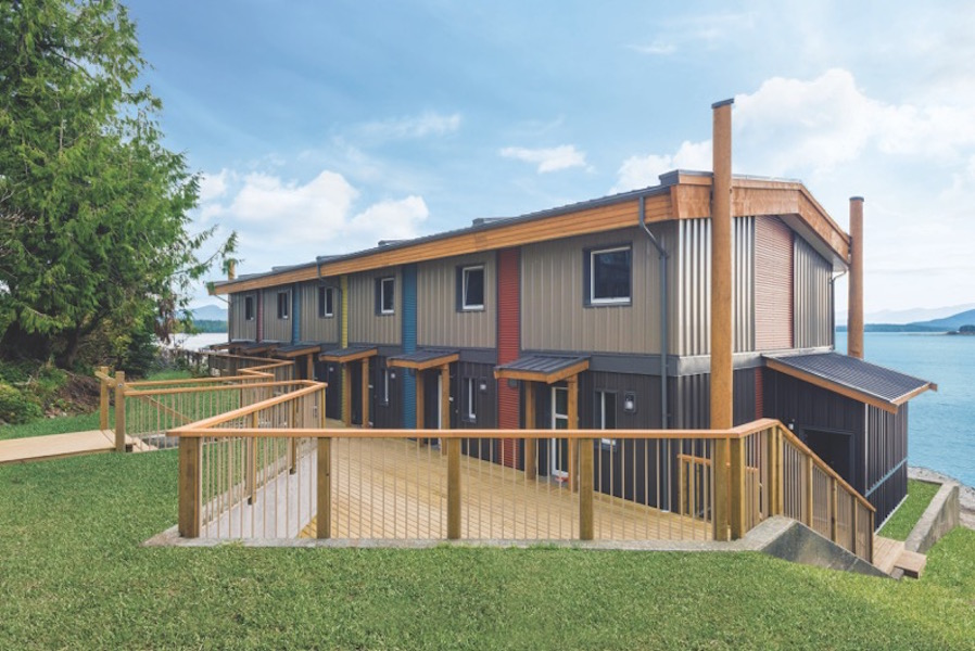 Pembina Institute Follow Ultra energy-efficient Passive House building in Bella Bella on B.C.'s central coast. Photo credit: Britco.