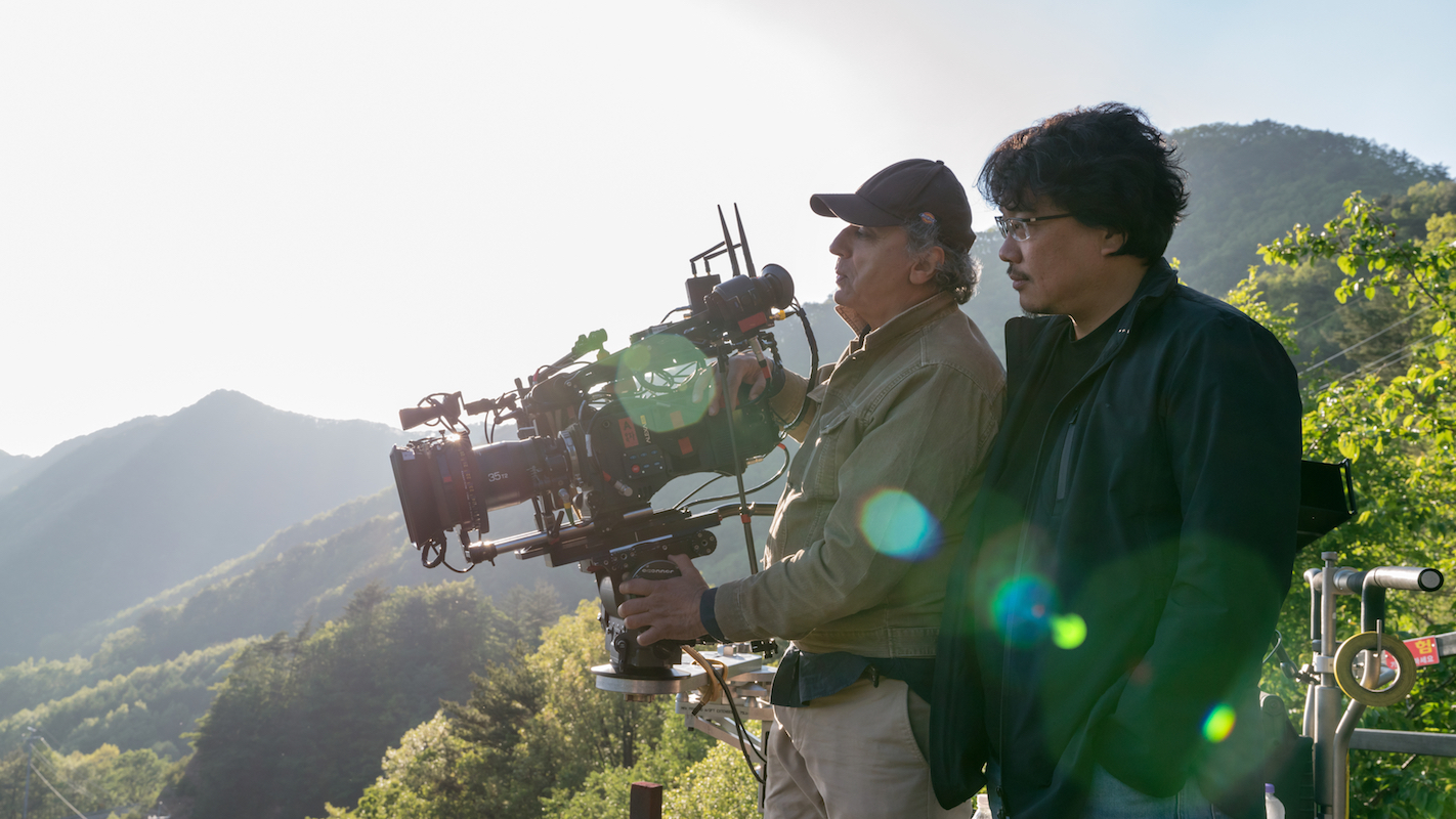 Director Bong Joon Ho & Cinematographer Darius Khondji behind the scenes in OKJA