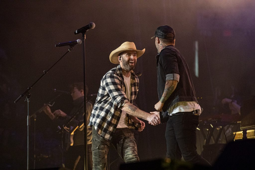 Dallas Smith and Dean Brody at the AEC on Oct. 26, 2019 by Tom Paillé-6094