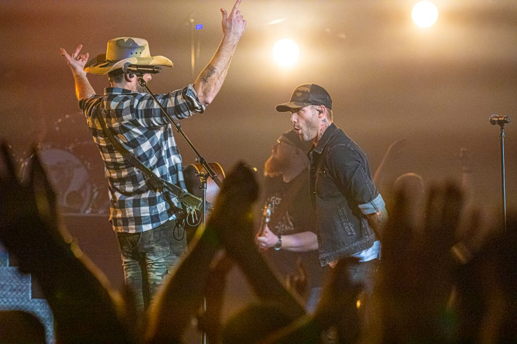 Dallas Smith and Dean Brody at the AEC on Oct. 26, 2019 by Tom Paillé-6263